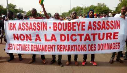 manifestation suite aux teries des peulhs au mali