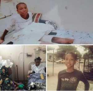 accident 300x295 Amputée suite à accident de voiture du maire Abdoulaye Timbo: Pikine FRAPP/ FRANCE au chevet de l'élève Aissatou Ba Cissé