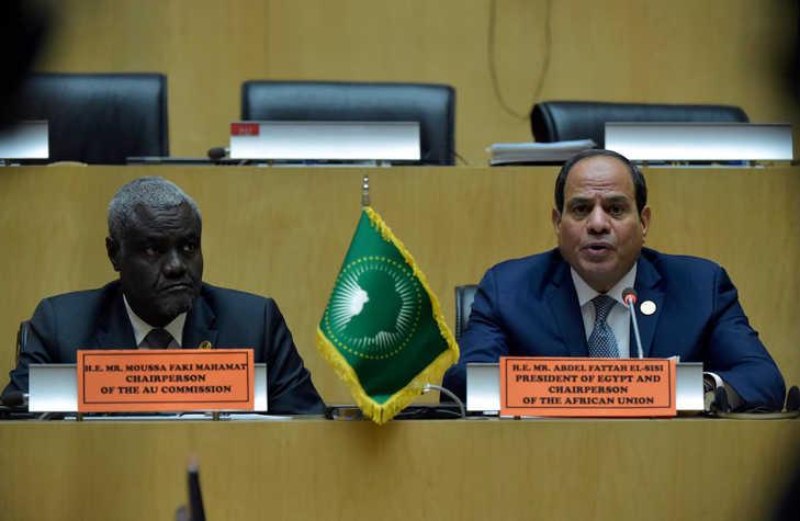 réunion des chefs d'etat sur la crise libyenne et le soudan