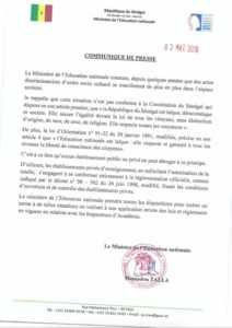 Mamadou Talla comunique 03 49 2019 09 49 38 212x300 Interdiction du port du voile: Mamadou Tall donne son avis