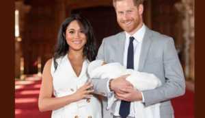 Meghan Markle et le prince harry leur bébé dans les bras 750x430 300x172 Meghan Markle et le prince Harry présentent enfin leur royal baby