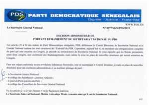 pds 300x212 PDS: Me Wade zappe Oumar Sarr et donne du pouvoir à Karim